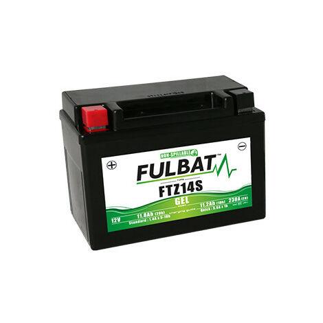 Batterie moto FTZ14S FULBAT GEL - 12V - 11.8Ah   Avec chargeur