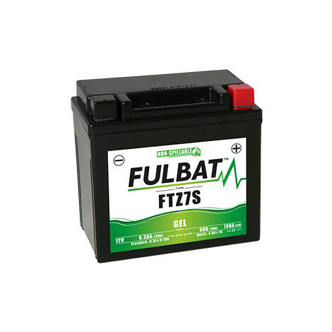 Batterie moto FTZ7S FULBAT GEL - 12V - 6.3Ah   Avec chargeur