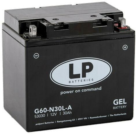 Batterie moto Landport LP GEL G60-N30L-A 53030 12v 30ah 325A