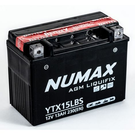 Batterie moto Exide ETX15L-BS YTX15L-BS 12v 13ah 230A