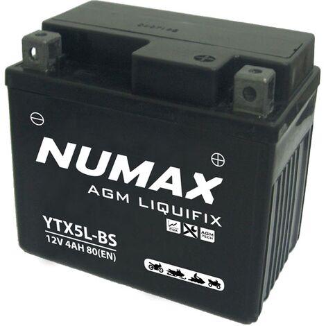 "main image of ""Batterie moto Numax Premium AGM YT5LBS 12V 5Ah 70A"""