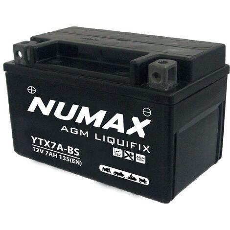 Batterie moto Numax Premium AGM YTX7A-BS 12V 6Ah 105A