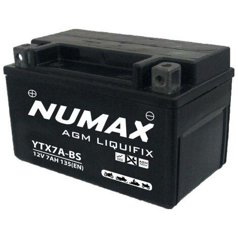 Batterie moto Numax Premium Numax Scellé AGM YTX7A-BS SLA 12V 6Ah 100A