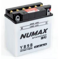 Batterie moto Numax Standard avec pack acide YB9-B 12V 9Ah 115A