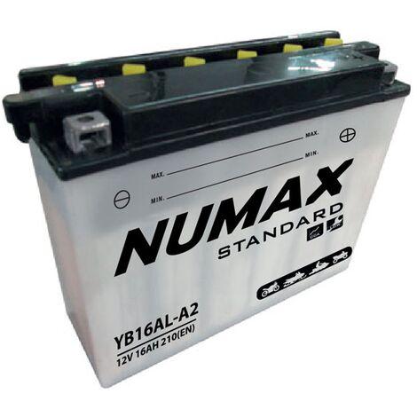 Batterie moto Numax Standard avec pack YB16AL-A2 12V 16Ah 210A