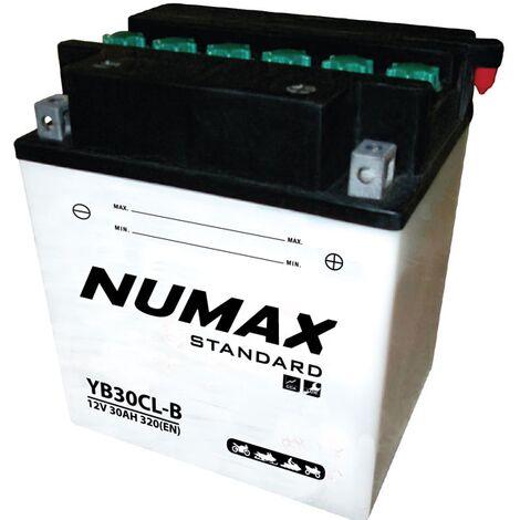Batterie moto Numax Standard avec pack YB30CL-B 12V 30Ah 320A