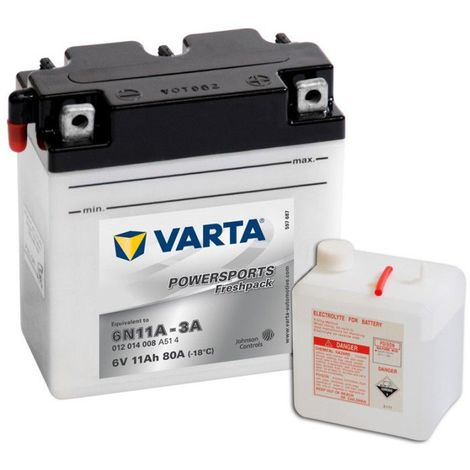 Batterie Moto VARTA 6N11A-3A 6V 12ah 80A