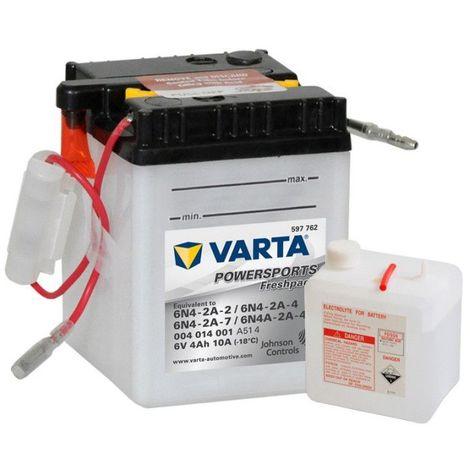 Batterie Moto VARTA 6N4-2A-2, 6N4-2A-4, 6N4A-2A-7 6V 4ah 10A