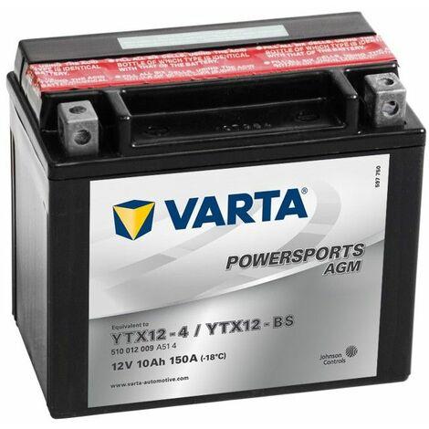 BATTERIE MOTO VARTA AGM YTX12-BS
