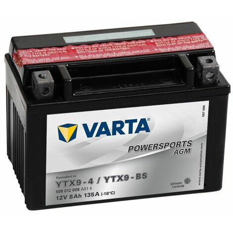 BATTERIE MOTO VARTA AGM YTX9-BS