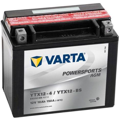 Batterie Moto VARTA YTX12-BS 12V 10AH 150A
