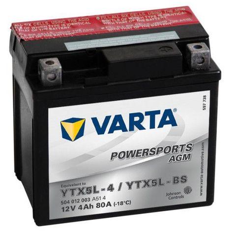 Batterie Moto VARTA YTX5L-BS 12V 4AH 80A