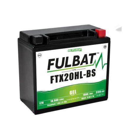 Batterie 18ah Étanche Moto Ytx20l Bs Gel Wpx20lbs Au 12v Btx20l DHIWE9Y2
