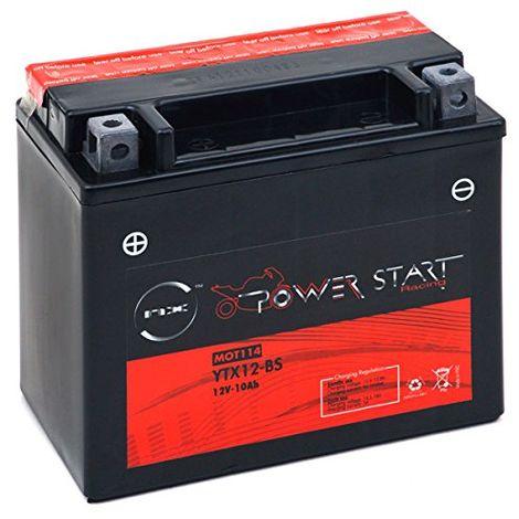 Batterie moto YTX12-BS étanche 12V / 10Ah
