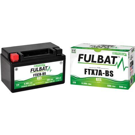 Batterie moto YTX7A-BS étanche 12V / 6Ah