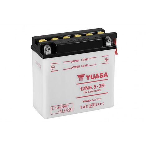 Batterie moto YUASA 12N5-3B 12V 5.3AH 35A