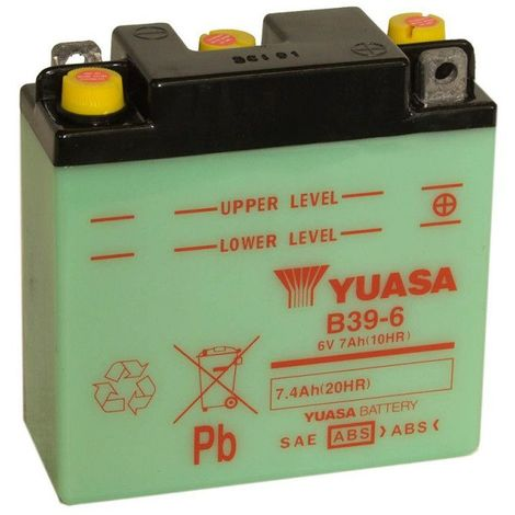 Batterie moto YUASA B39-6 6V 7.4AH