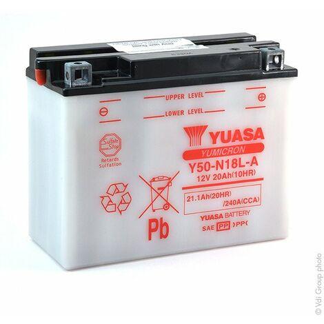 Batterie moto YUASA Y50-N18L-A 12V 20Ah