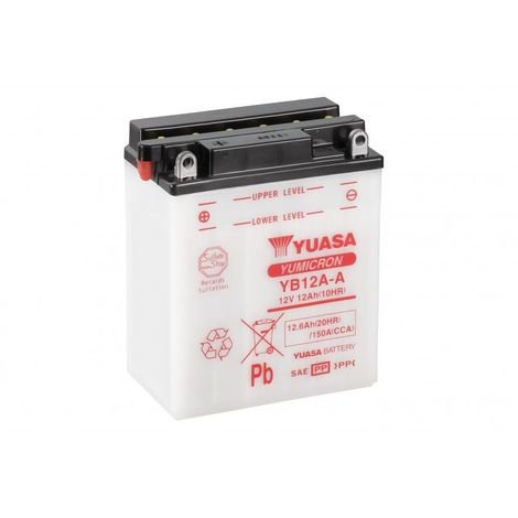 Batterie moto YUASA YB12A-A 12V 12.6AH 150A