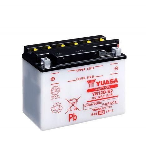 Batterie moto YUASA YB12B-B2 12V 11.6AH 140A