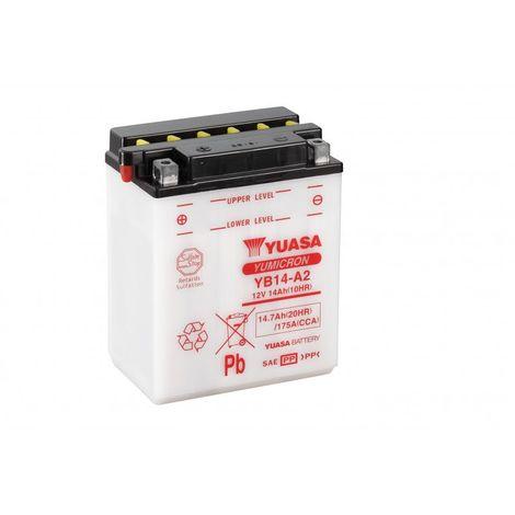 Batterie moto YUASA YB14-A2 12V 14.7AH 175A