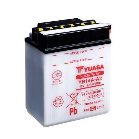 Batterie moto YUASA YB14A-A2 12V 14.7AH 175A