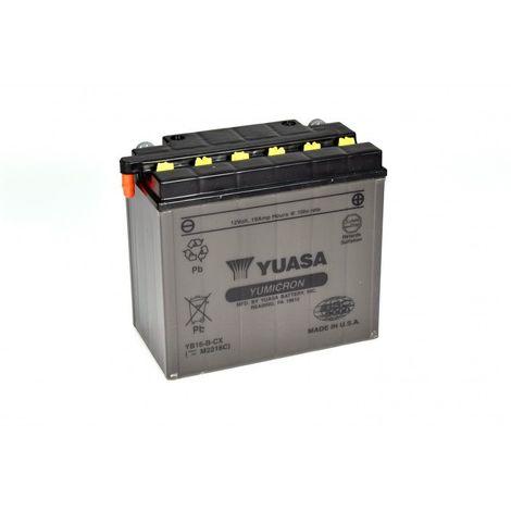 Batterie moto YUASA YB16-B-CX 12V 20AH 255A