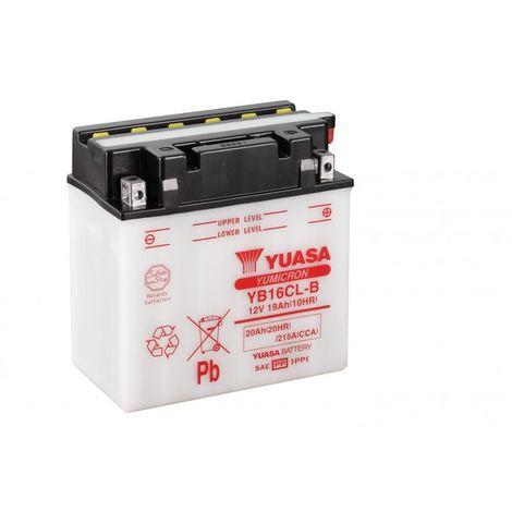 Batterie moto YUASA YB16CL-B 12V 20AH 240A