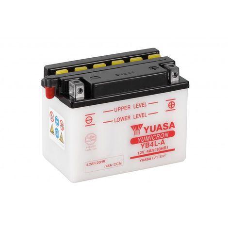 Batterie moto YUASA YB4L-A 12V 4.2AH 45A