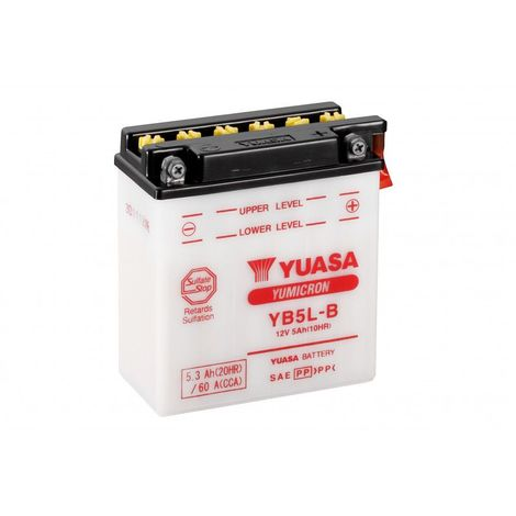 Batterie moto YUASA YB5L-B 12V 5.3AH 60A
