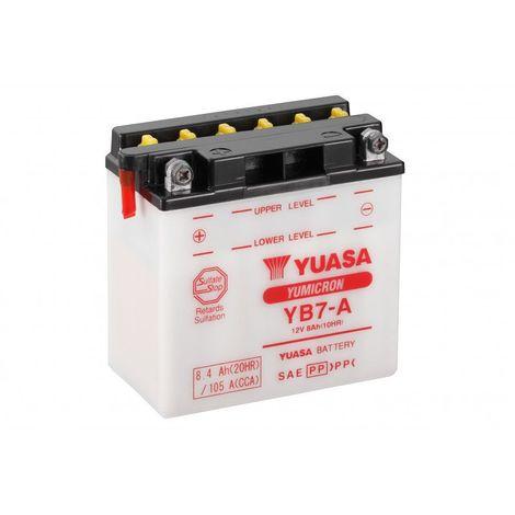 Batterie moto YUASA YB7-A 12V 8.4ah 105A