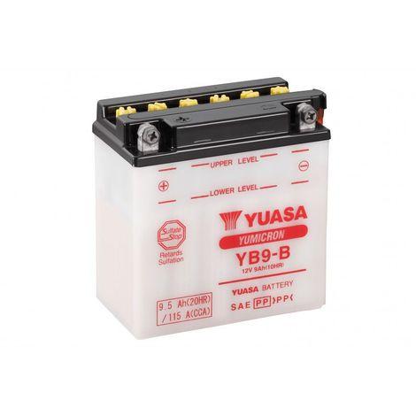Batterie moto YUASA YB9-B 12V 9.5AH 115A