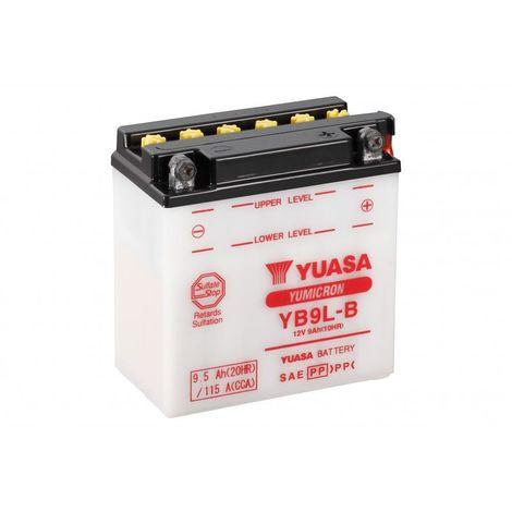 Batterie moto YUASA YB9L-B 12V 9.5AH 115A