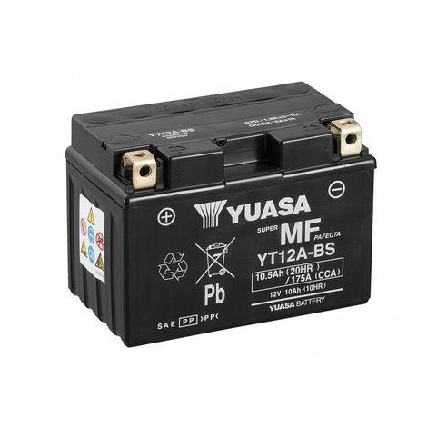 Batterie moto YUASA YT12A-BS 12V 10.5AH 175A