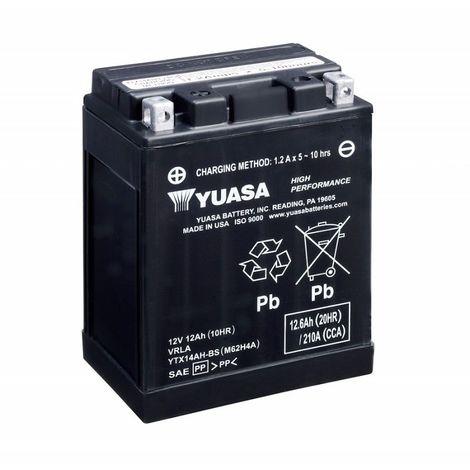 Batterie moto YUASA YTX14AH-BS 12V 12.6AH 210A