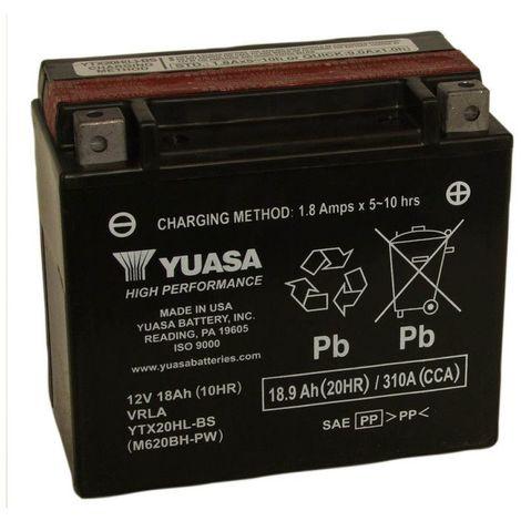 Batterie moto YUASA YTX20HL-BS 12V 18.9AH 310A