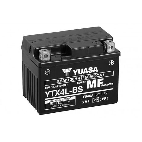 Batterie moto YUASA YTX4L-BS 12V 3.2AH 50A