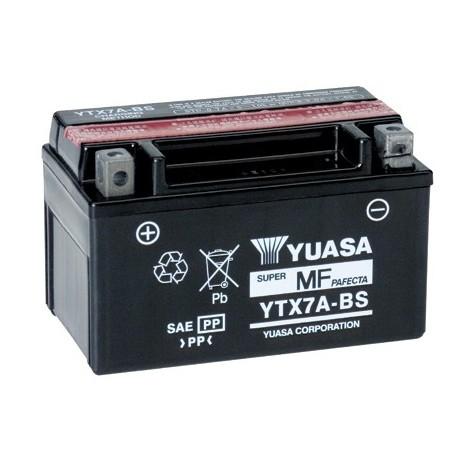 Batterie Moto Yuasa YTX7A-BS 12V – 6Ah avec pack acide inclus