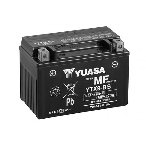 Batterie moto YUASA YTX9-BS 12V 8.4AH 135A