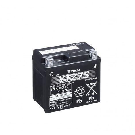 Batterie moto YUASA YTZ7S 12V 6.3AH 130A