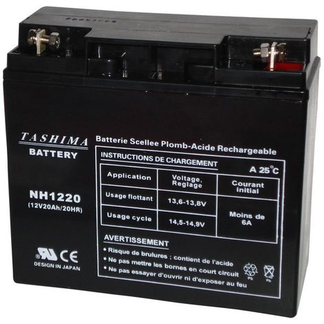 Batterie NH1220 TASHIMA CASTELGARDEN - HONDA - STIGA