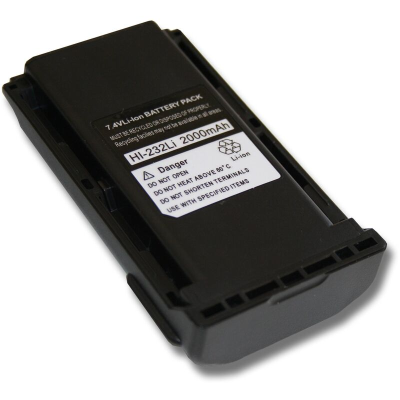 vhbw Batterie compatible avec Icom IC-4011, IC-A14, IC-A14S, IC-F14, IC-F14S, IC-F15, IC-F15S radio talkie-walkie (2200mAh, 7,4V, Li-ion)