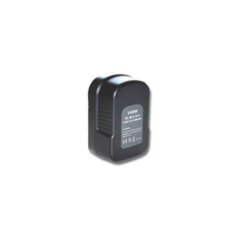 Vhbw - Batterie NI-MH 3000mAh 14.4V noir pour BLACK & DECKER BDG14SF-2 etc. remplace 499936-34, 499936-35, A14, A144, A144EX, A14F, HPB14
