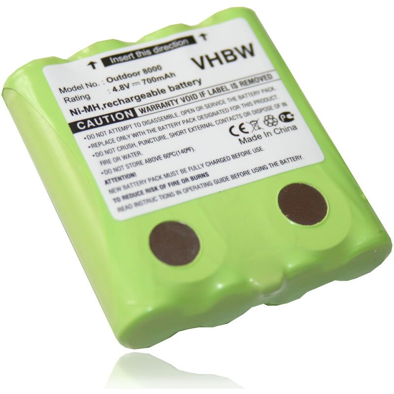 Batterie NI-MH 700mAh 4.8V pour DeTeWe Outdoor 8000, Outdoor PMR 8000, PMR8000. Remplace MT700D03XXC