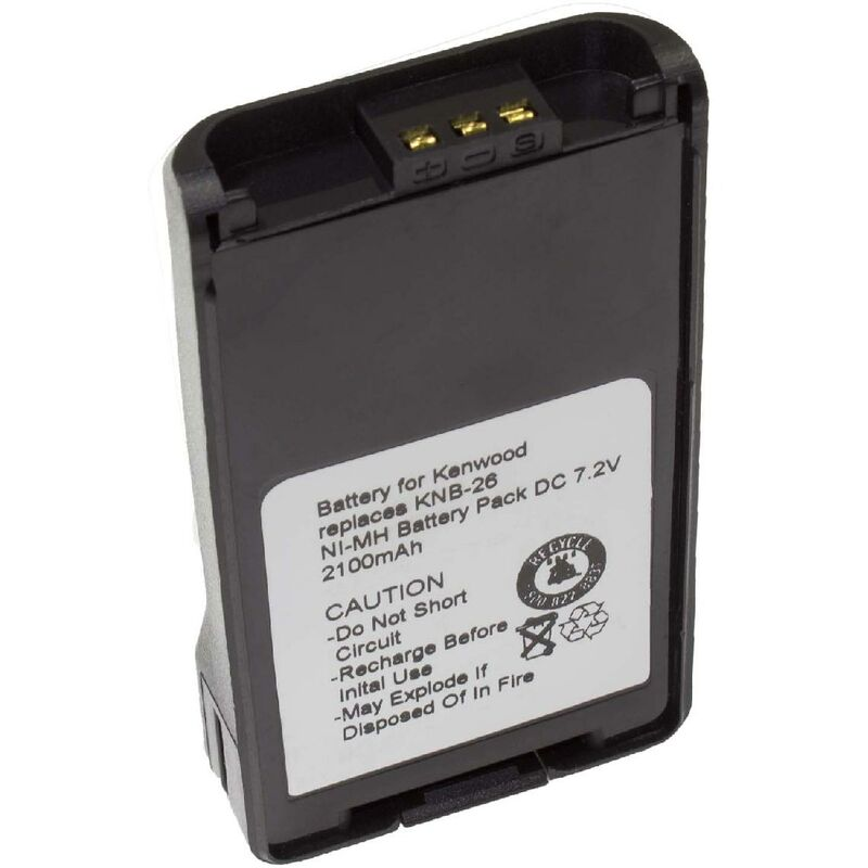 Batterie Ni-MH vhbw 2100mAh 7.2V pour Talkie-Walkie Kenwood TK-2173, TK-2360,TK-3140 comme KNB-24L, KNB-25A,KNB-26, KNB-26N, KNB-35L, KNB-55L, KNB-56N