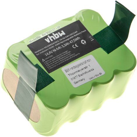 Batterie Ni-MH vhbw 3300mAh (14.4V) pour outils Hoover Robo.com2. Remplace: NS3000D03X3, YX-Ni-MH-022144.