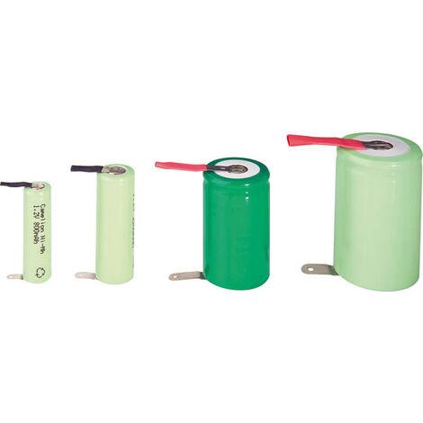 Batterie NiMH 4/5 SUB-C de 2000mAh avec cosse à souder en Z sous enveloppe plastique