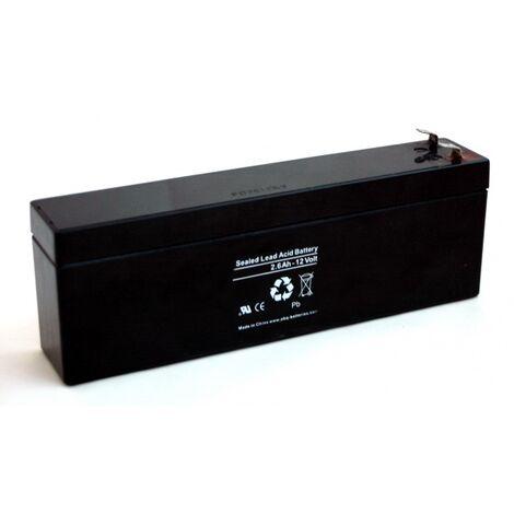 Batterie plomb 12V 2.6Ah (179x35x65)