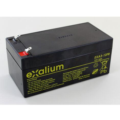 Batterie Plomb 12V 3Ah Exalium EXA3.12FR