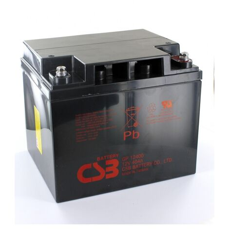 Batterie Plomb 12V 40Ah CSB GP12400
